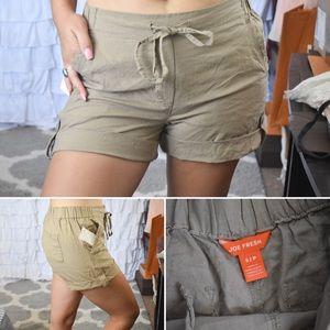 New! Joe Fresh Khaki Roll up Shorts